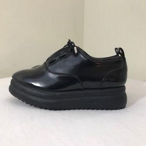 Zara Trafaluc Patent Leather Platform Shoes